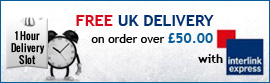 Free delivery on all orders over 50 pounds